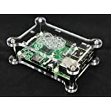 Raspberry Pi B+ Housing / Height-Adjustable and Stackable / Transparent Acrylic / 4 Extra Spacer Bolts Free! G-RP-BPC Vullers Tech®