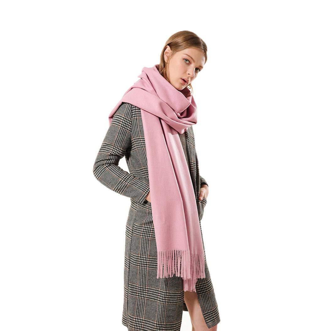 Boomdan Womens Large Soft Imitation cashmere Feel Shawls Wraps Light Scarf Multifunctional warm shawl (Pink) by Boomdan (Image #6)