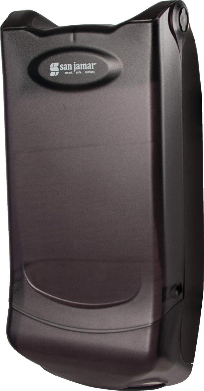 San Jamar H5004P Venue Wall Mount Mini Interfold Napkin Dispenser, 600 Capacity, 8 Width x 15-3/4 Height x 5-9/10 Depth, Clear H5004PCL
