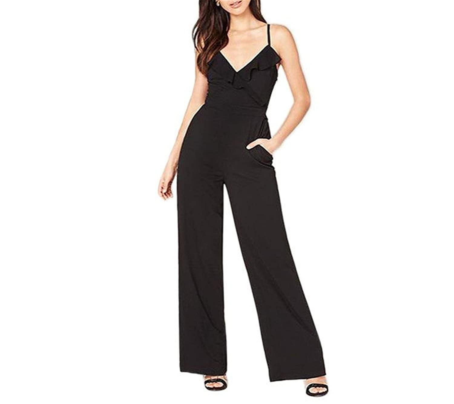 Woodin Fashion 2017 Rompers Womens Jumpsuit Overalls Strapruffle Loose Jumpsuits Plus Size