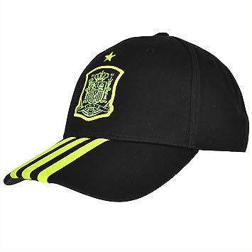 size 40 697b3 b9cee Adidas Performance  FEF Spain Cap 3 Stripes Cap Black D84219, black