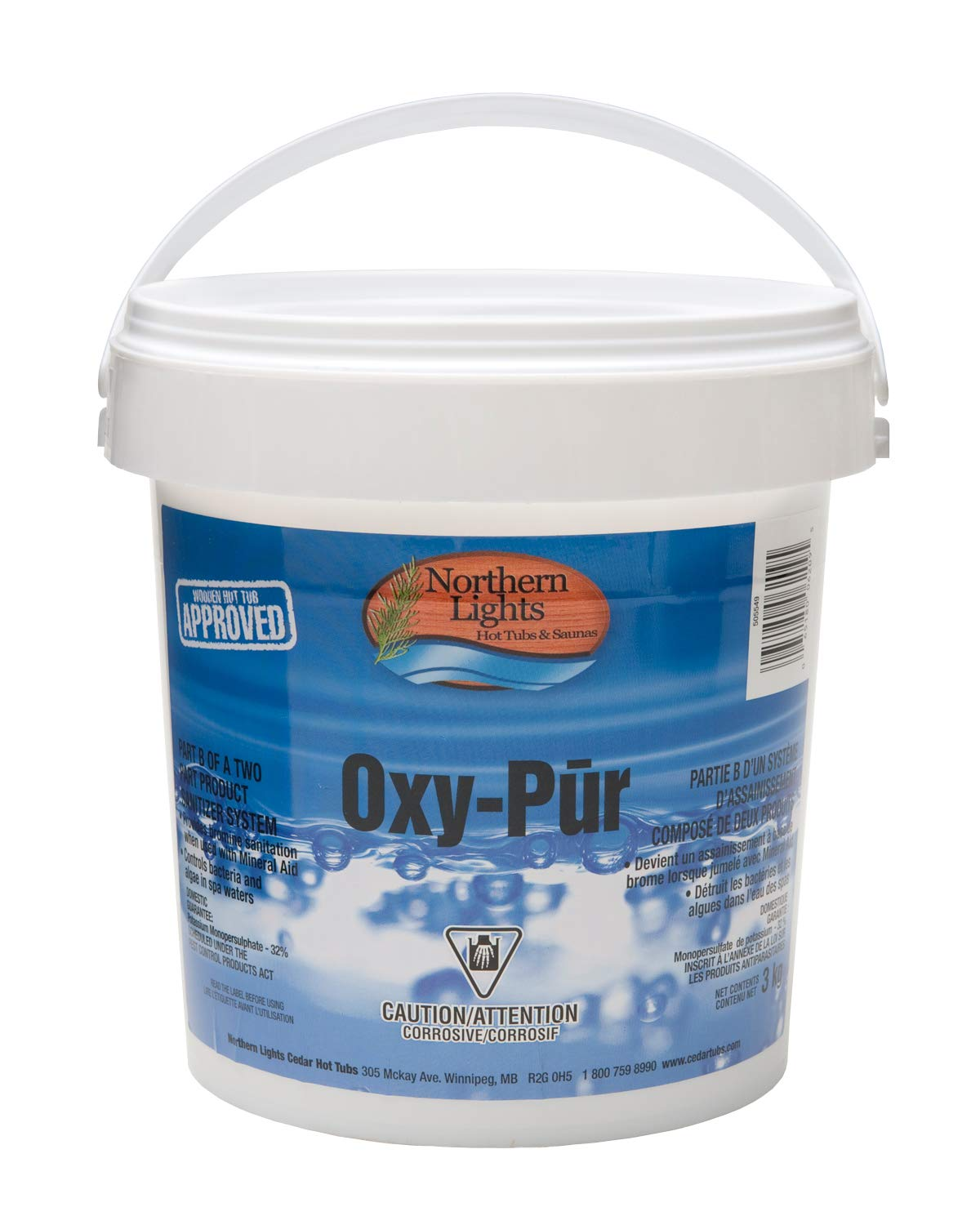 Northern Lights Group NLCT-OXY PUR-Part 2 of 2 part Bromine Sanitizer - 3 Kg by Northern Lights Group