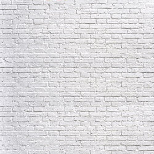 8x8ft(250x250cm) White Brick Wall Photography Backdrops Cloth Seamless Without Wrinkles by Kate (Image #5)