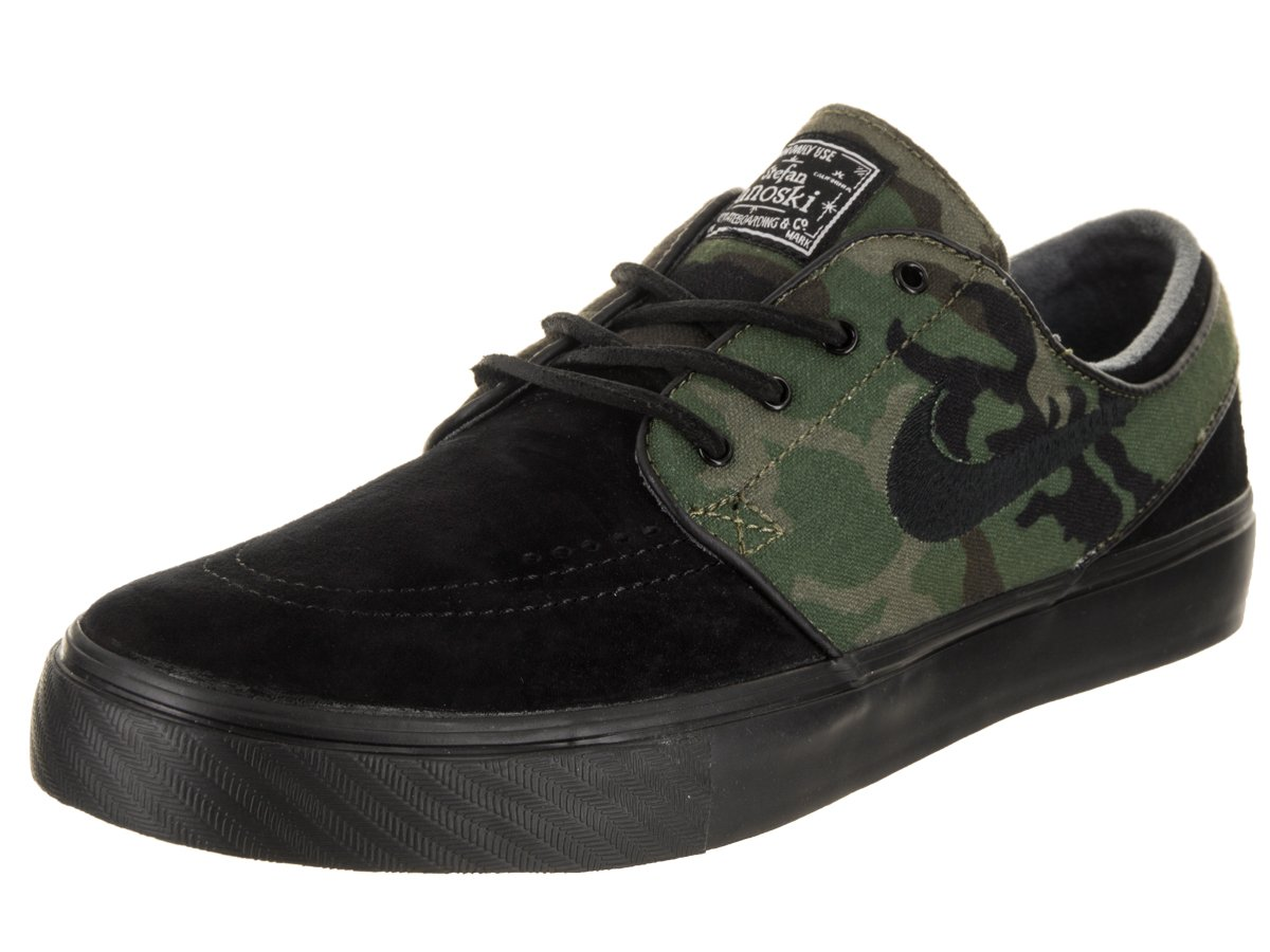 NIKE Men's Zoom Stefan Janoski Skate Shoe B078KCD8BT 9.5 D(M) US|Black / Medium Olive-white