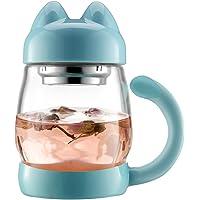 BZY1 14-oz. Glass Cat Tea Mug with Lid