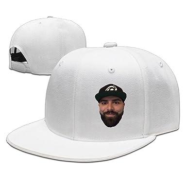 322bc099fdd AAWODE Unisex YouTube KeemStar Plain Adjustable Snapback Hats Caps - White  -  Amazon.co.uk  Clothing