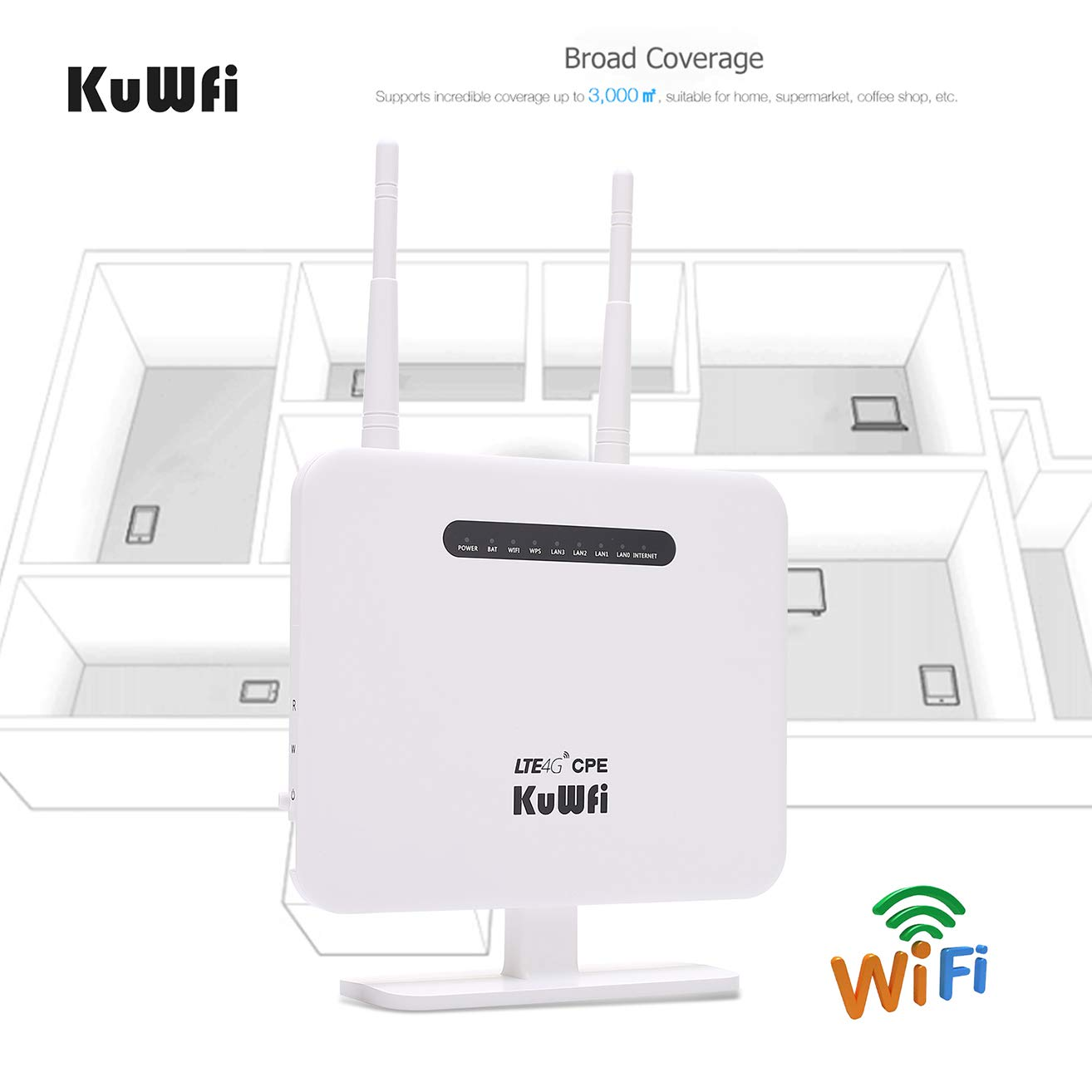 Kuwfi 4g Lte Cpe Router 300mbps Unlocked 4g Lte Cpe Amazon In Electronics