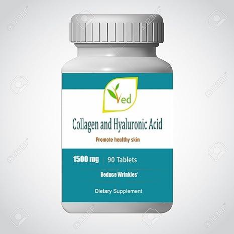 Suplemento ultra puro para el cuidado de la piel con ácido colágeno y ácido hialurónico -