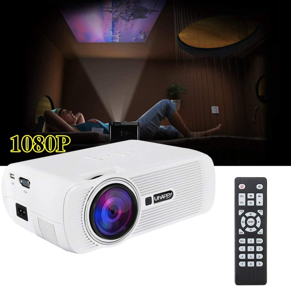 Proyector Digital LED para Android 4.4 U80 1080P HD Media Player ...