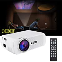 Proyector Digital LED para Android 4.4 U80 1080P HD Media Player Mini proyector (Color: Blanco)
