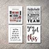 Motivational Office Wall Decor Art Prints Inspirational Quote posters for office Decorations Artwork Positive Affirmation Teamwork Quotes Pictures Living Room Bathroom Kitchen Walls (Office4, 8x10)