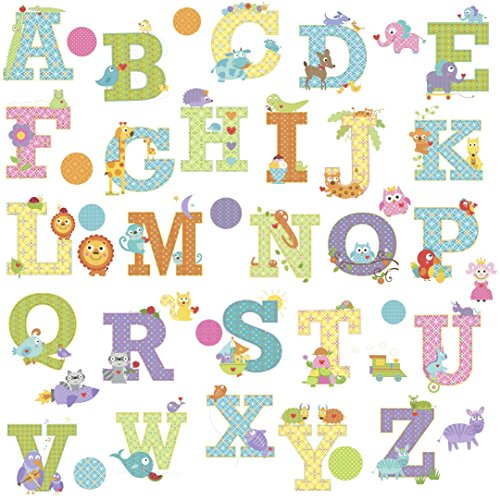 Self Stick Wall Appliques - RoomMates Animal Alphabet Dena Designs Peel And Stick Wall Decals