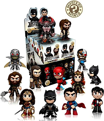 Funko DC Justice League Movie Mystery Minis Display Case of 12 Blind Box Figures - Sealed Blind Box
