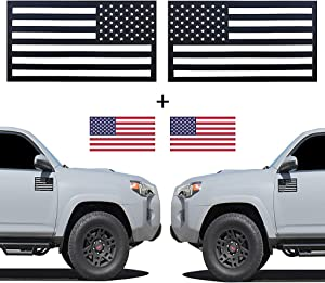 VLGR Flagnets 3.0 Tactical Set of 2 Emblem Cut-Out Car Magnet Car Decal 100% Made in USA Trucks Cars SUV Left Right Pair (50 Star USA Flag)