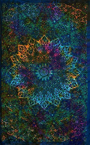 Twin Blue Tie Dye Bohemian Tapestry Elephant Star Mandala Tapestry Tapestry Wall Hanging Boho Tapestry Hippie Hippy Tapestry Beach Curtain Coverlet