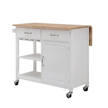 SJ Collection Heathcoat Kitchen Cart White