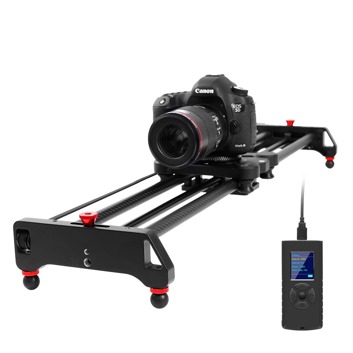 GVM Motorized Camera Slider Time Lapse and Video Shot, with Remote Controller, 120 Degree Panoramic Shooting 31'' 80cm, Track Dolly Sliders Rail System with Motorized by GVM Great Video Maker