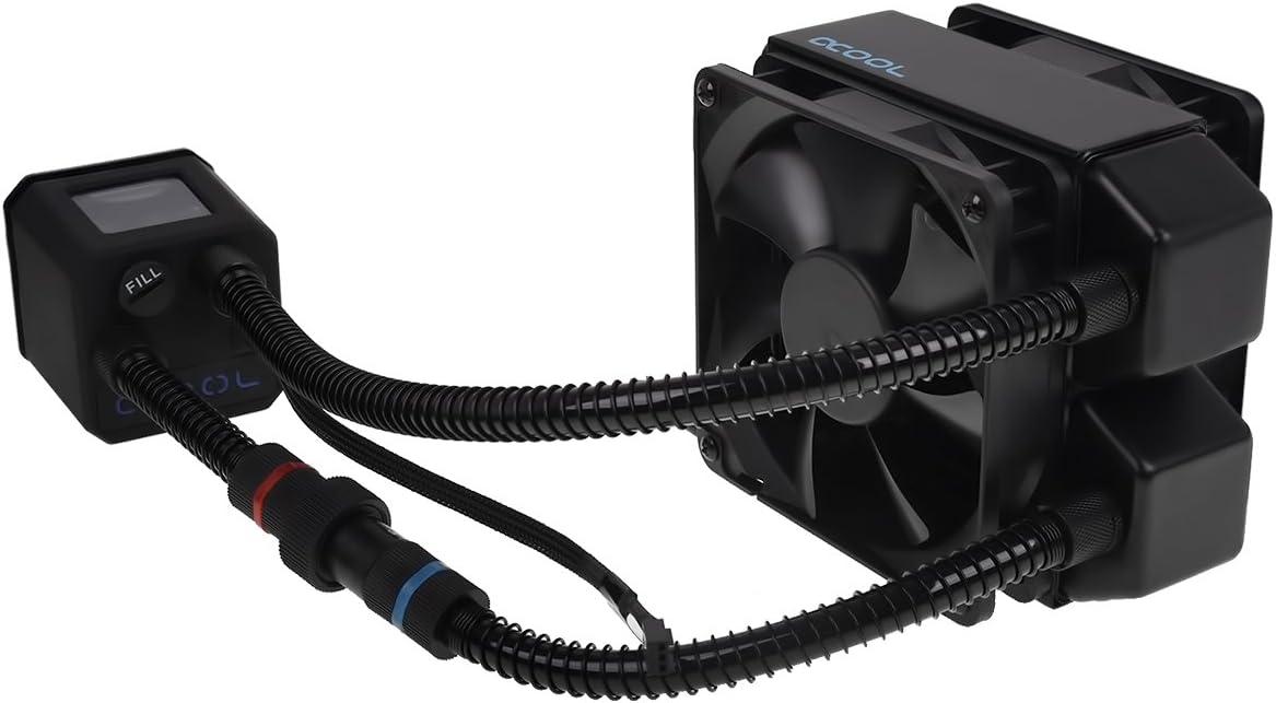 ALPHACOOL Ventilador CPU Ref. LIQUIDA EISBAER 120 Negro RELLENABLE ...