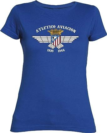 Desconocido Camiseta Chica Atlético de Aviación Camisetas del Atleti colchoneras ATM rojiblanco … (S,
