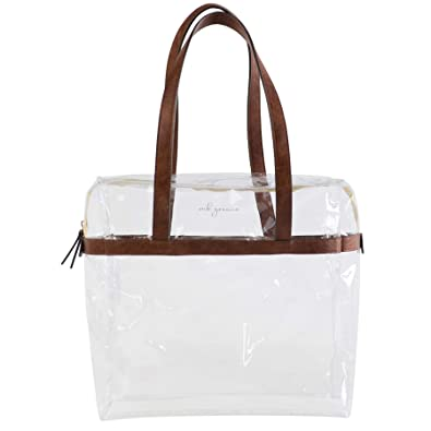 5234eda664 MB Greene Designer Clear Stadium Approved Large Tote Purse Bag for Concerts  and Sporting Events