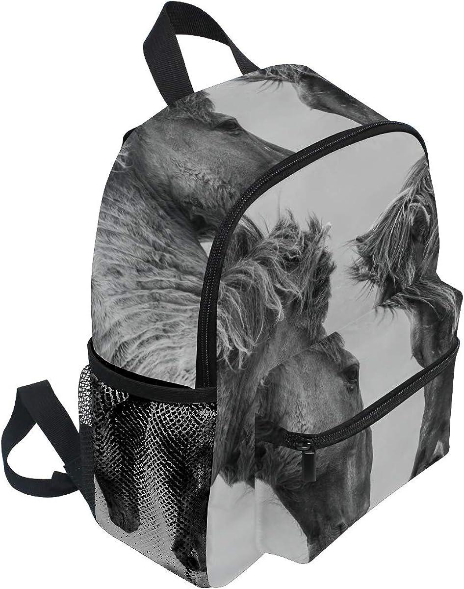 FANTAZIO mochila escolar elemental par caballos Bookbag