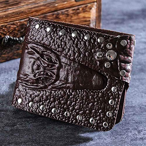 Zilosconcy Cartera Corta de Hombres Bolso cocodrilo patrón de Negocios Corto Billetera Monedero titulares de Tarjetas Bolso BK: Amazon.es: Ropa y accesorios