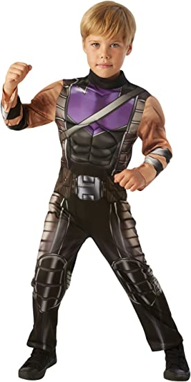 per Bambini Rubies et/à 5-7 Anni Altezza 132 cm Taglia M Costume Ufficiale Avengers Endgame Hawkeye As Ronan
