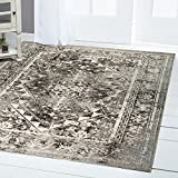 Best Home-dynamix-area-rugs - Nicole Miller Patio Sofia-5ftx7ft-4131-451 Area Rug, Gray Review