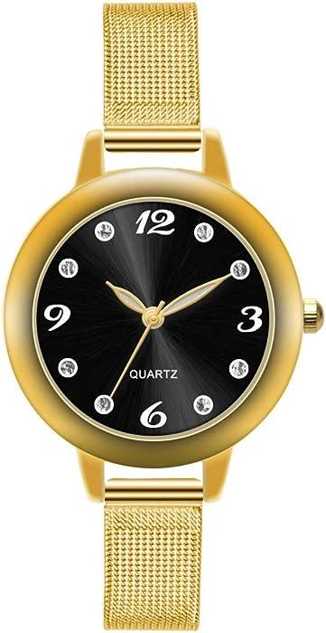 Relojes para Mujer, Reloj de Pulsera de Cuarzo Aleación Ultrafino de Acero, Accesorios Watches Casual Simple para Mujer BBestseller