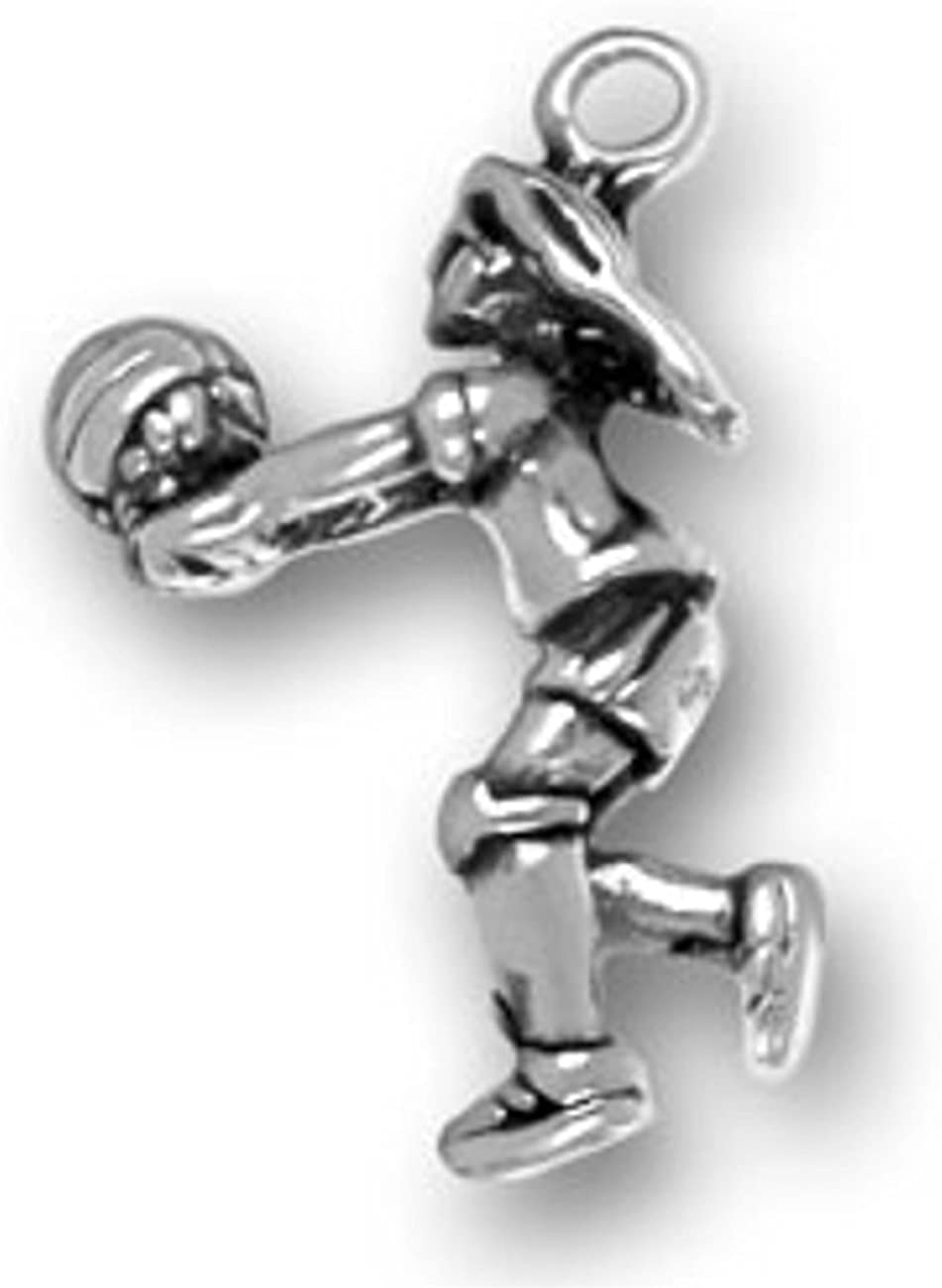 Sterling Silver 7 4.5mm Charm Bracelet With Attached 3D Detailed Cow Charm