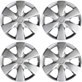 15 inch Hubcaps Compatible with 04-20 Toyota Yaris - (Set of 4) Wheel Covers 15in Hub Caps Silver Rim Cover - Car…
