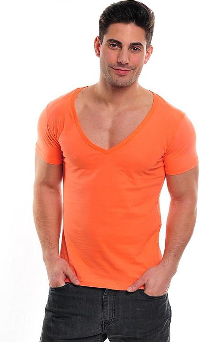 Wasabi Xtreme Deep V Neck – Camiseta Inferior V Recorte Marca Camiseta Hombre Basic Camiseta Fresh Salmon S: Amazon.es: Ropa y accesorios