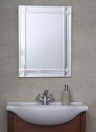 Bath Boutiques Designer Bathroom Mirror Fancy Wall Mount 18 Inch X 24