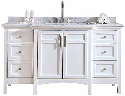 Amazon.com: Ari Kitchen and Bath Luz Single Bathroom Vanity Set Akb on dual sink vanity, 16 inch sink vanity, ramp sink vanity,
