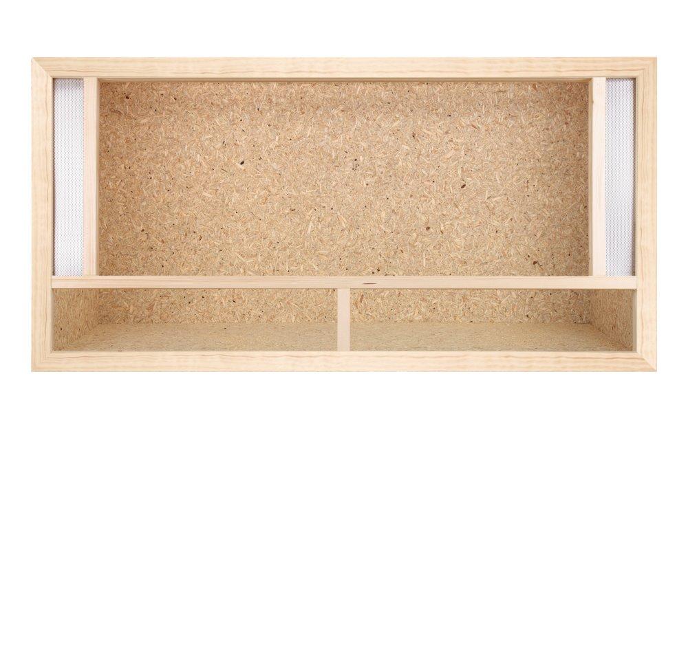 Repiterra Terrarium avec grille d'aération à l'avant et parois en plaques de bois OSB 80 x 40 x 40 cm Terrarium-Discounter