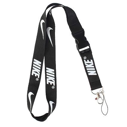 3668bcb8e5245 Lanyard Keychain Holder Keychain Key Chain Black Lanyard Clip with Webbing  Strap (Nike)