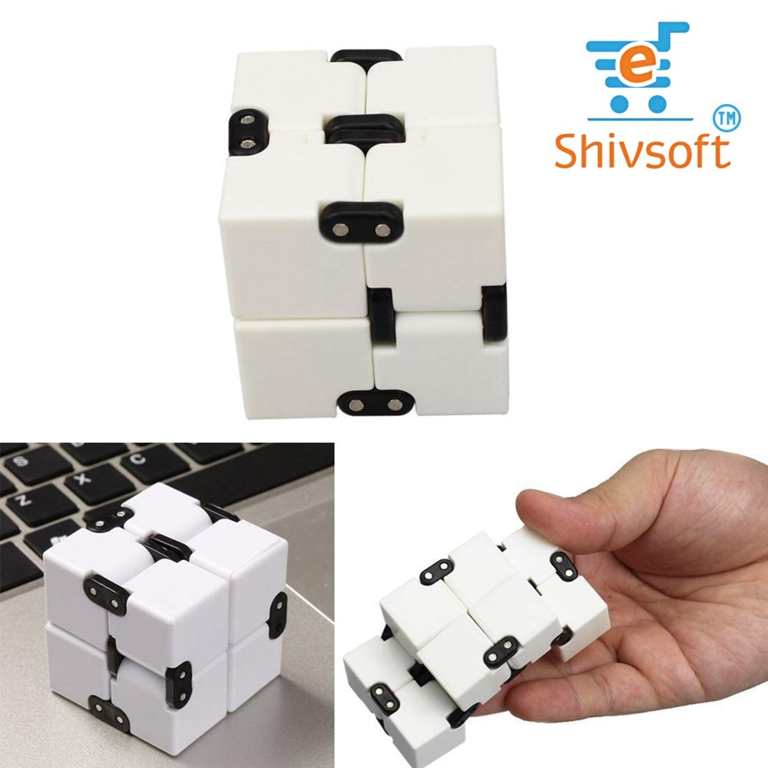 Infinity Cube Puzzle Decompression for Kids and Adults (White) by OK Seller (Image #7)