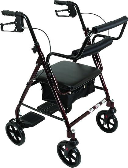 Amazon.com: Andador de transporte con asiento acolchado ...