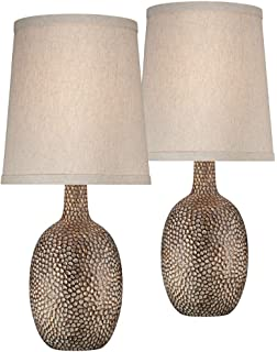 Chalane Hammered Antique Bronze Table Lamp Set Of 2