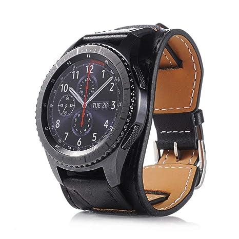 XingWangFa for Samsung Gear S3 Frontier / S3 Classic Straps Bracelets 22mm Genuine Leather Watch Bracelet