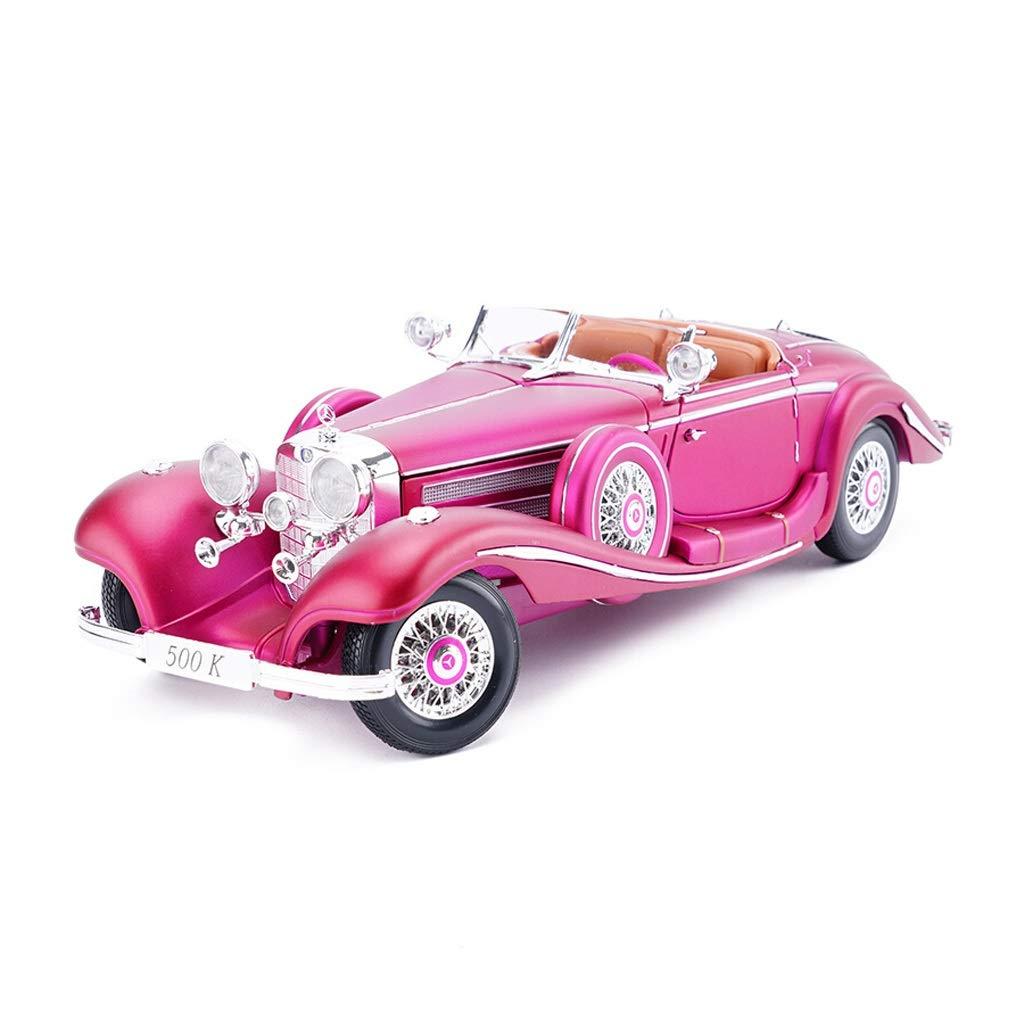 Auto Modello Mercedes-Benz Car Model Sports Car Classico Classico Modello di Auto 1 18 in Lega di Simulazione Modello di Auto Ornamenti Collezione ( Colore   viola )