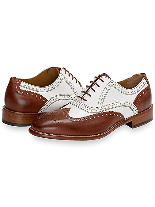 1930s Men's Clothing Paul Fredrick Mens Eden Wingtip Oxford  AT vintagedancer.com