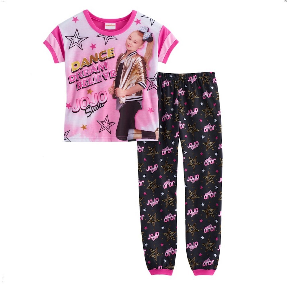 Girls JoJo Siwa Dance Dream Top & Bottoms Pajama Set (12) by Nickelodeon Jojo Siwa