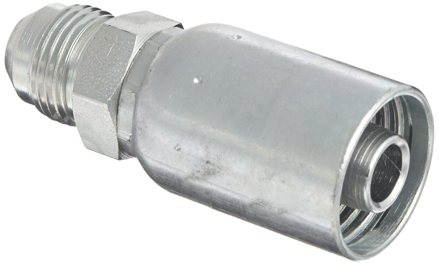 EATON Weatherhead Coll-O-Crimp 08U-510 Male Rigid Fitting Low Carbon Steel 5//8 Tube Size 1//2 Hose ID SAE 37 Degree