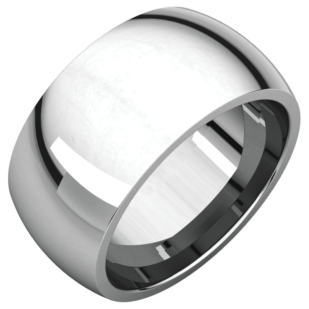 925 Stamped Sterling Silver 12mm Comfort Fit Wedding Ring Band