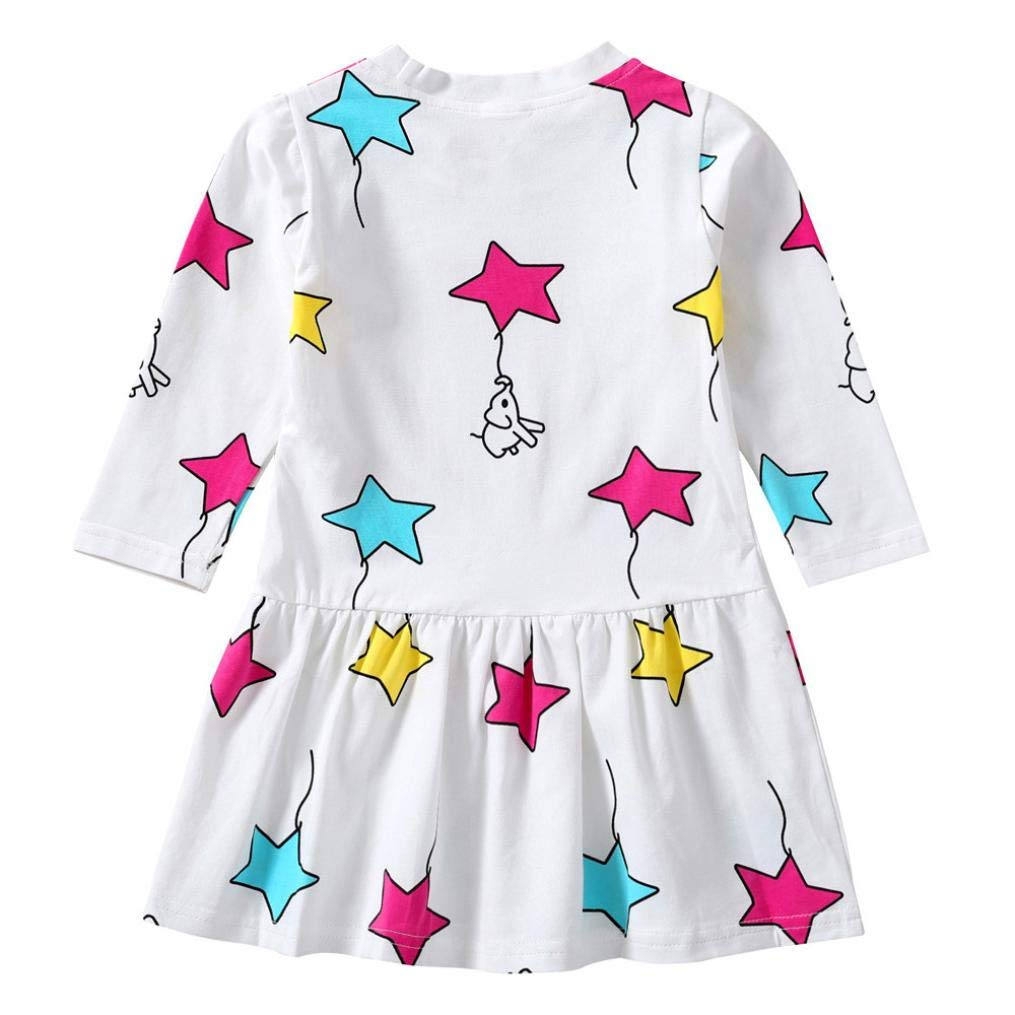 Memela Baby Clothes,Baby Girl Floral Dress Kid Party Wedding Pageant Princess Party Star Print Tutu Dress