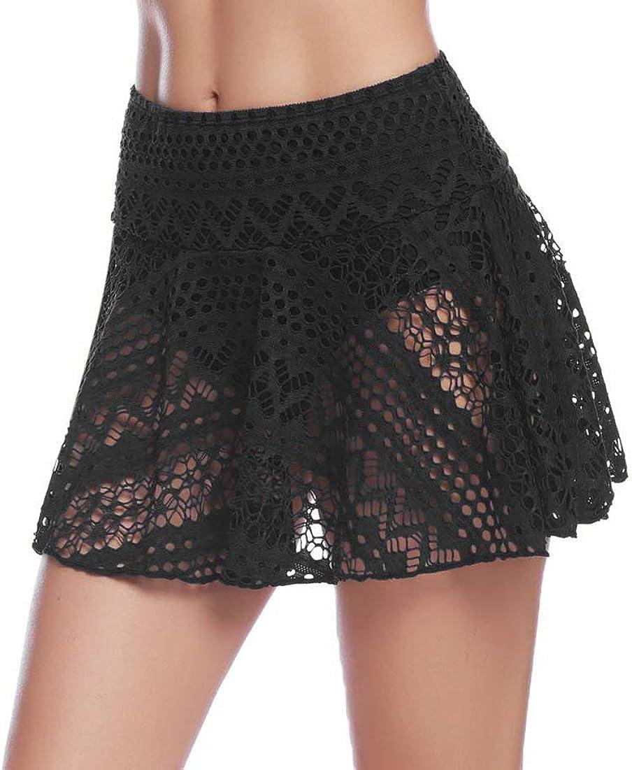 Shorts de Ba/ño Corta Bikini de Encaje Bragas para Playa Piscina iClosam Falda de Ba/ño Mujer