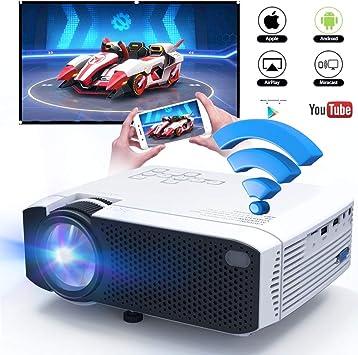 Amazon.com: DIWUER Proyector de vídeo 1080P HD Proyector de ...