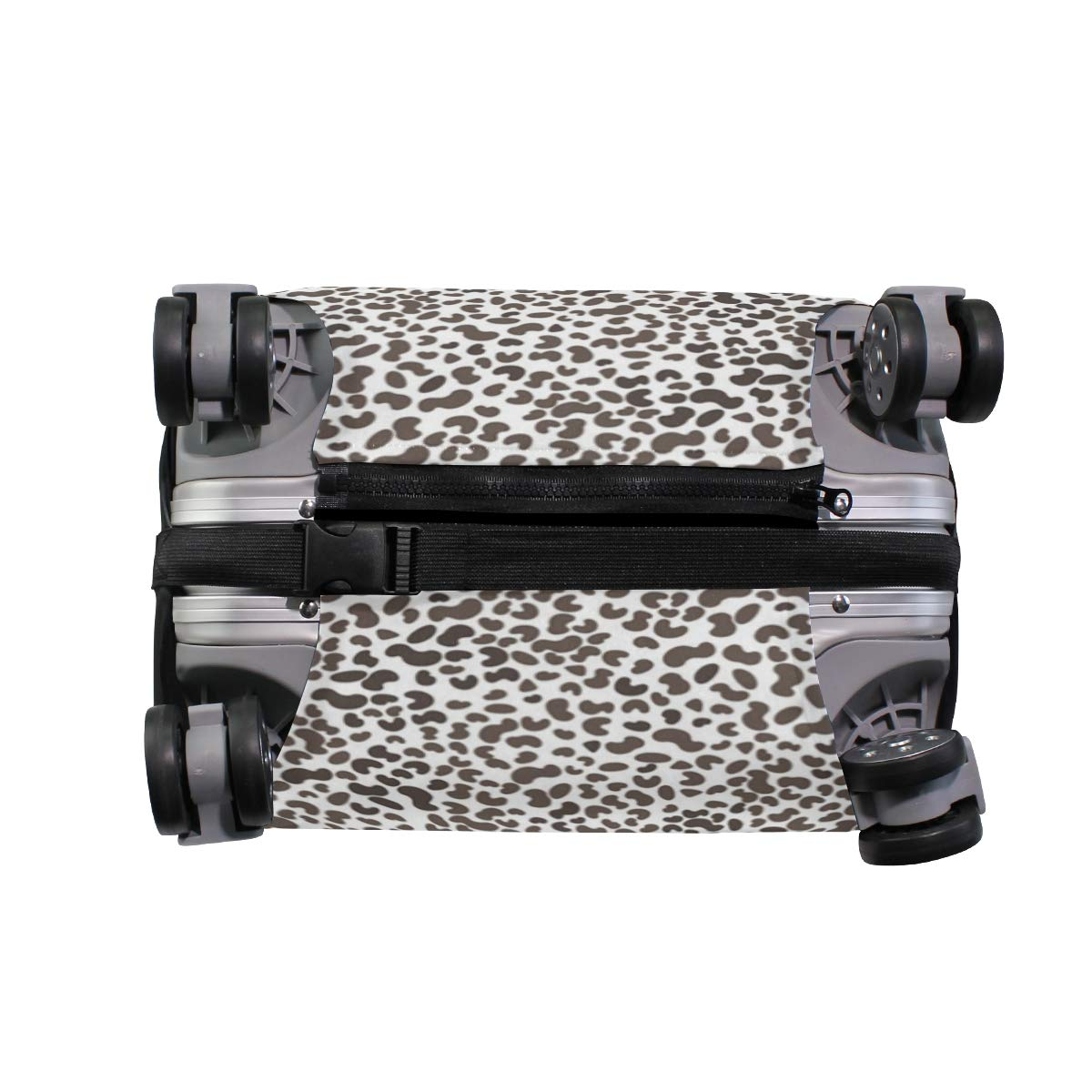 Animal Skin Leopard Print Traveler Lightweight Rotating Luggage Protector Case Can Carry With You Can Expand Travel Bag Trolley Rolling Luggage Protector Case