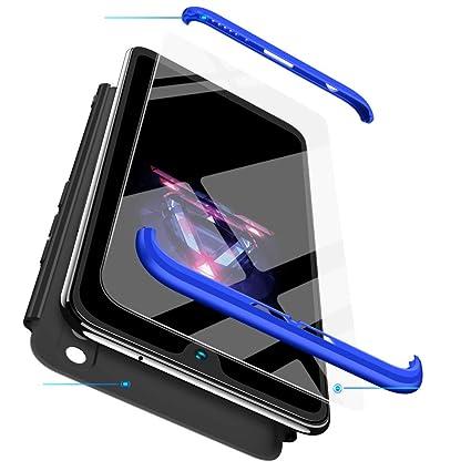 xinyunew Funda Huawei Honor 8X,360 Grados Protección Case + Pantalla de Cristal Templado,3 in 1 Anti-Arañazos Carcasa Case Caso Fundas teléfonos ...